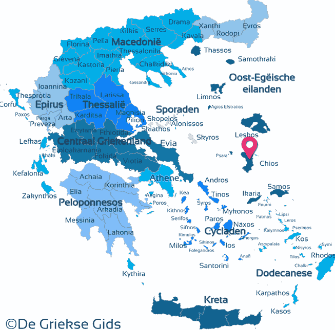 Map of Chios