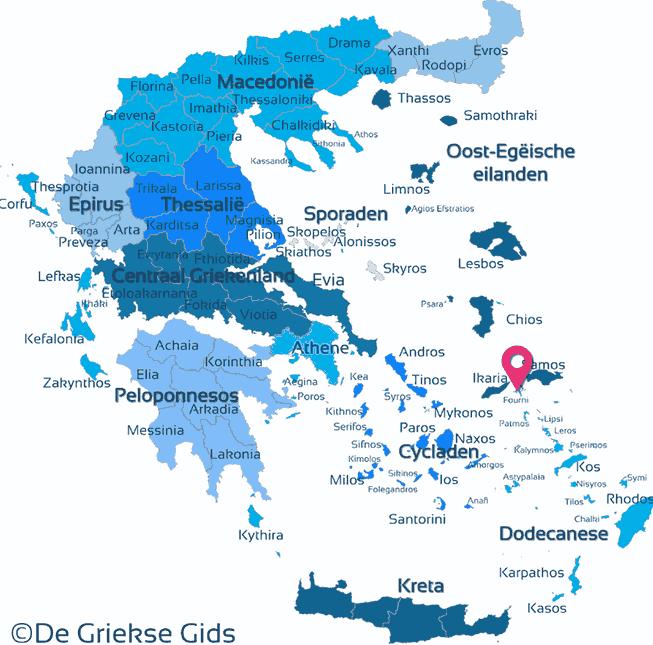 Map of Fourni