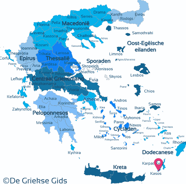 Map of Kasos