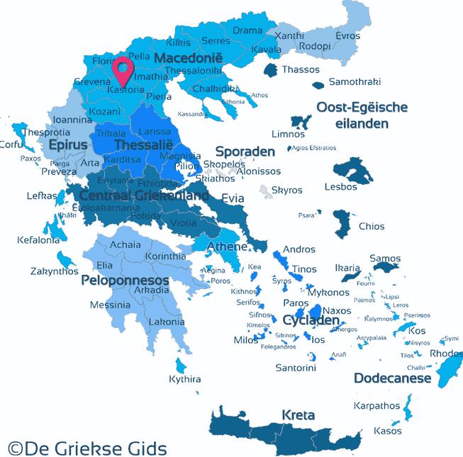 Map of Kastoria