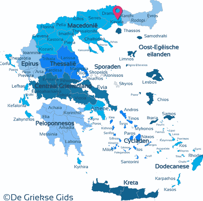 Map of Kavala