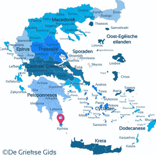 Map of Kythira