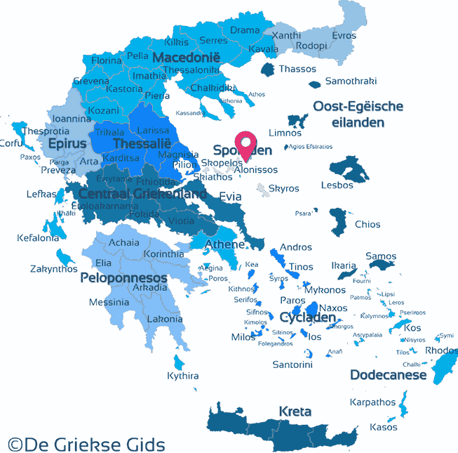 Map of Peristera