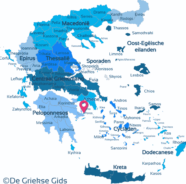 Poros Greece Map.Poros Saronic Gulf Islands Greek Islands Greece