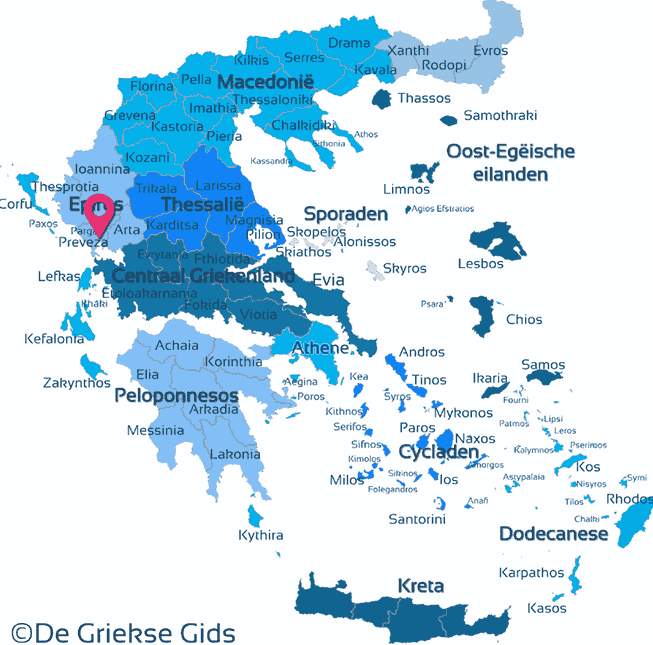 Map of Preveza