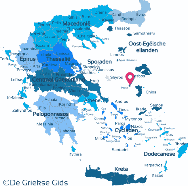 Map of Psara