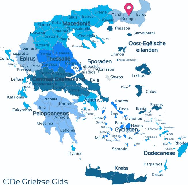 Map of Rodopi