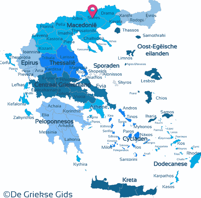 Map of Serres