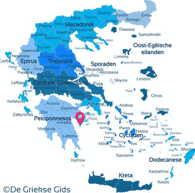 Map of Spetses