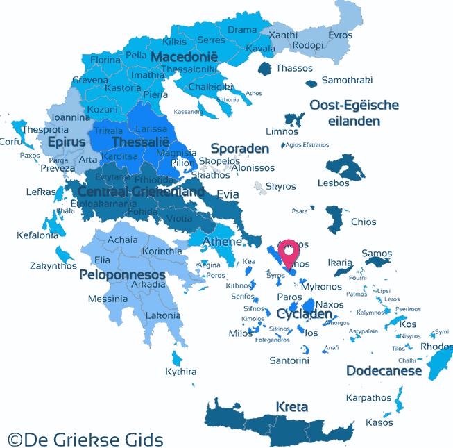 Map of Tinos