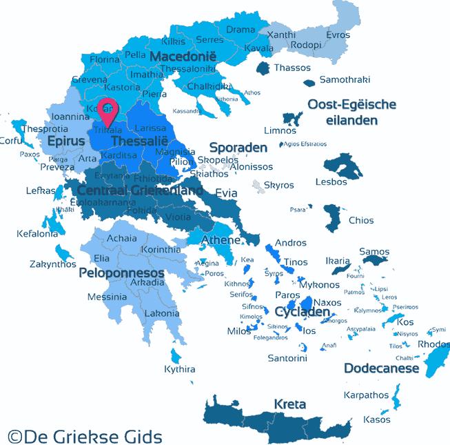 Map of Trikala