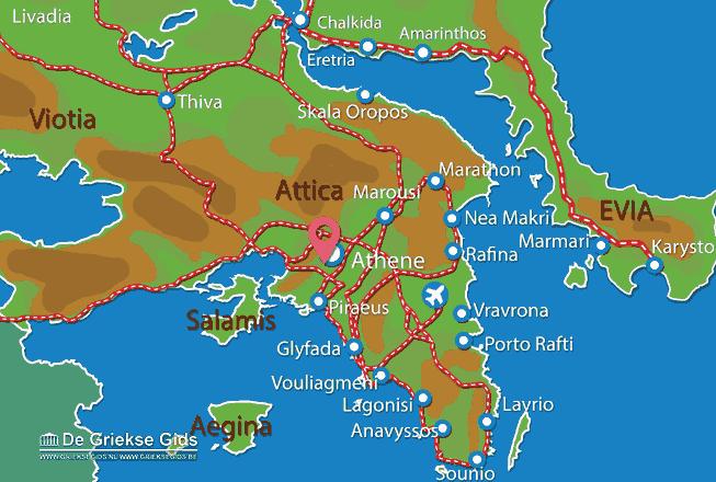 Map of Olympian Zeus