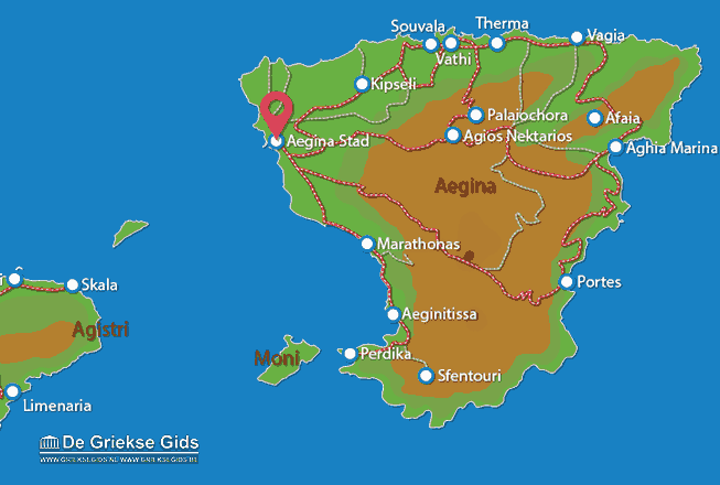 Map of Aegina town