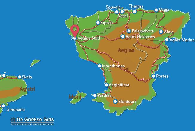 Map of Aegina town