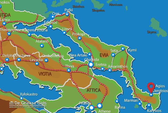 Map of Agios Dimitrios