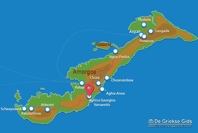 Map of Agios Georgios Valsamitis