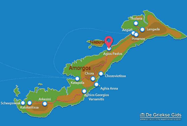Map of Aghios Pavlos