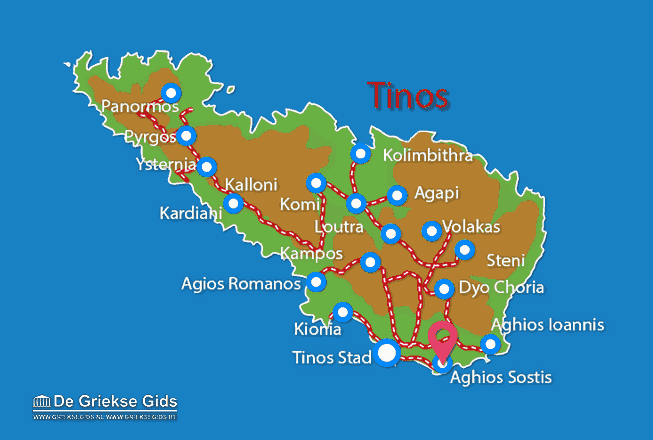 Map of Aghios Sostis