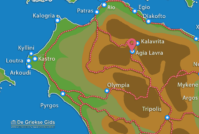 Map of Agia Lavra