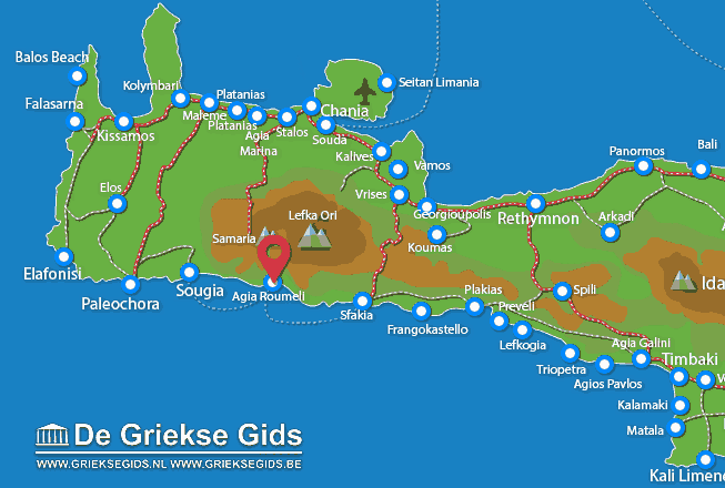 Map of Agia Roumeli