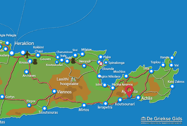 Map of Agia Fotia