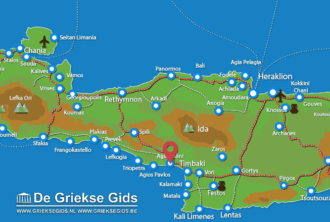 Map of Agia Galini