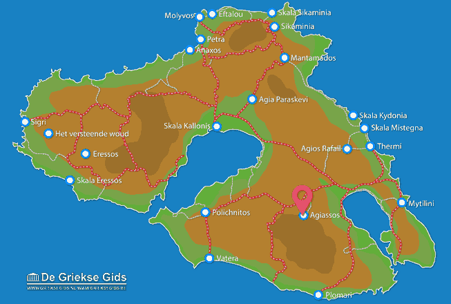 Map of Agiassos