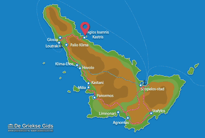 Map of Agios Ioannis Kastri