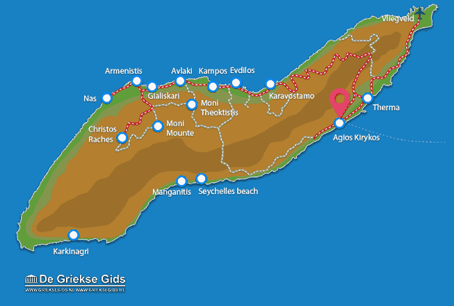 Map of Agios Kirykos