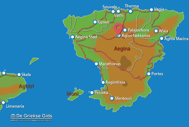 Map of Agios Nektarios