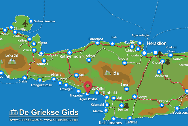 Map of Agios Pavlos