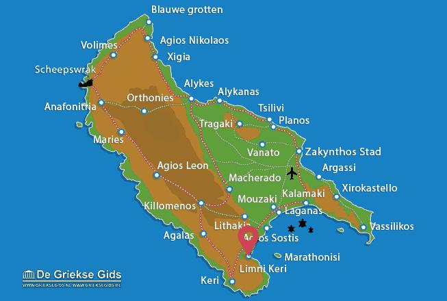 Map of Agios Sostis