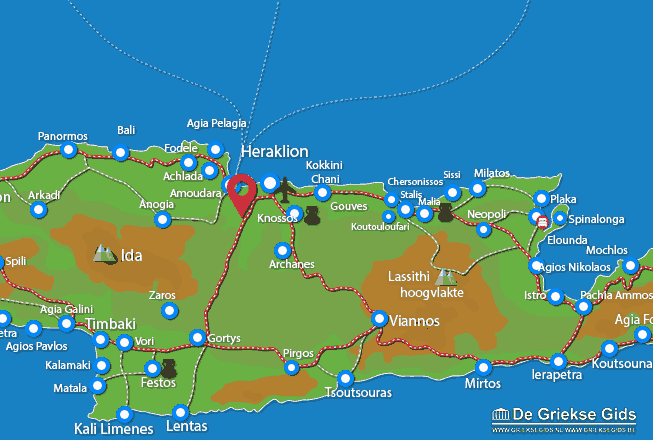 Map of Agios Thomas