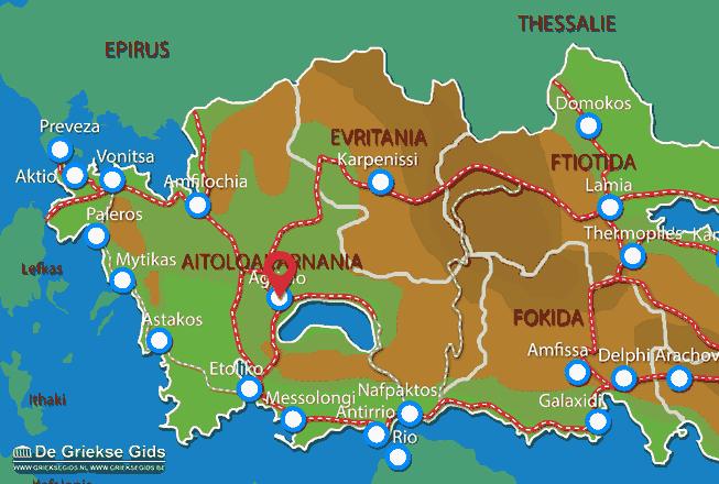 Map of Agrinio