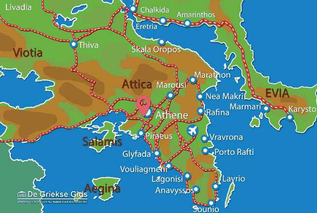 Map of Acropolis of Athens