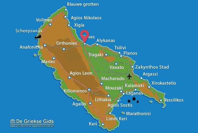 Map of Alykes