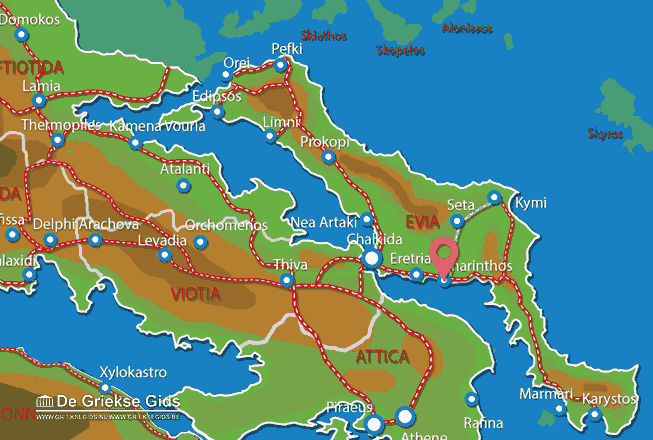 Map of Amarynthos