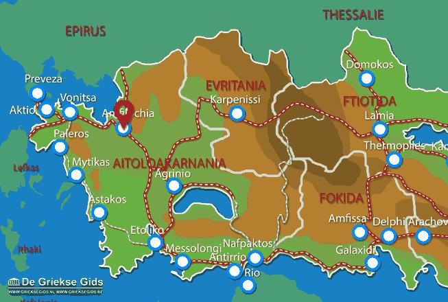 Map of Amfilochia