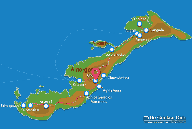 Map of Amorgos town