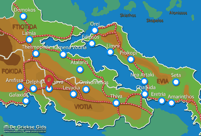 Map of Arachova