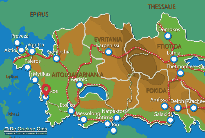Map of Astakos