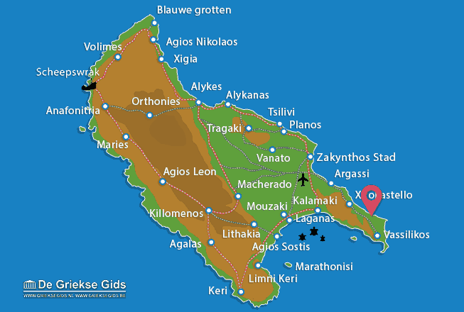 Map of Banana beach