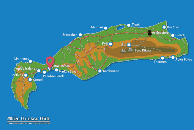 Map of Camel beach