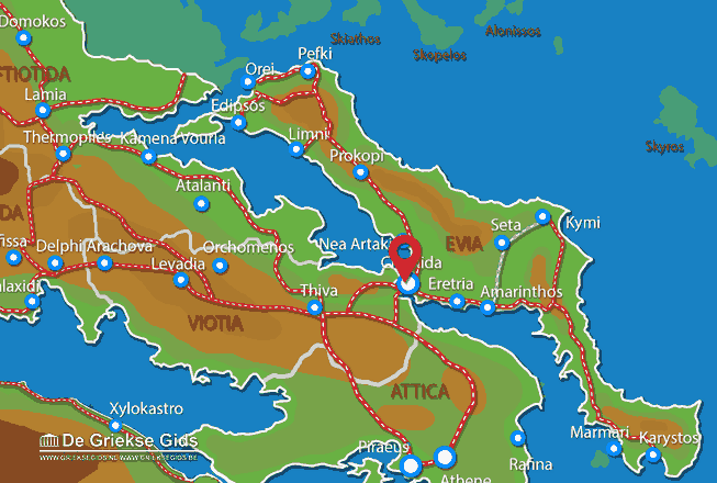 Map of Chalkis