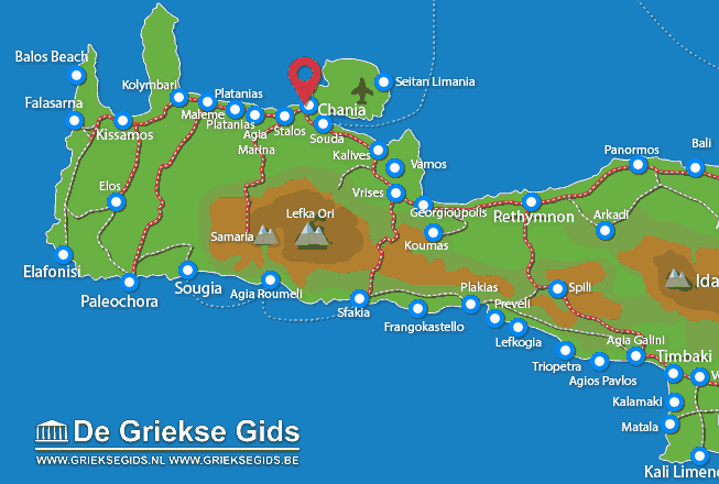 Map of Chania city