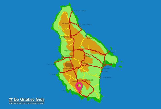 Map of Kythira town
