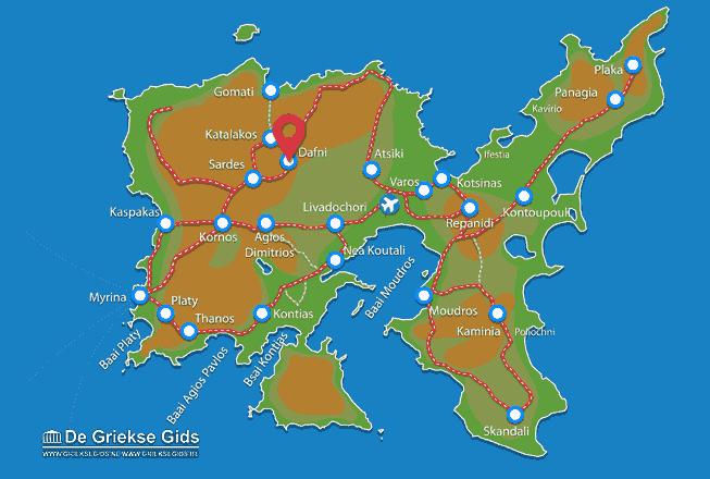 Map of Dafni