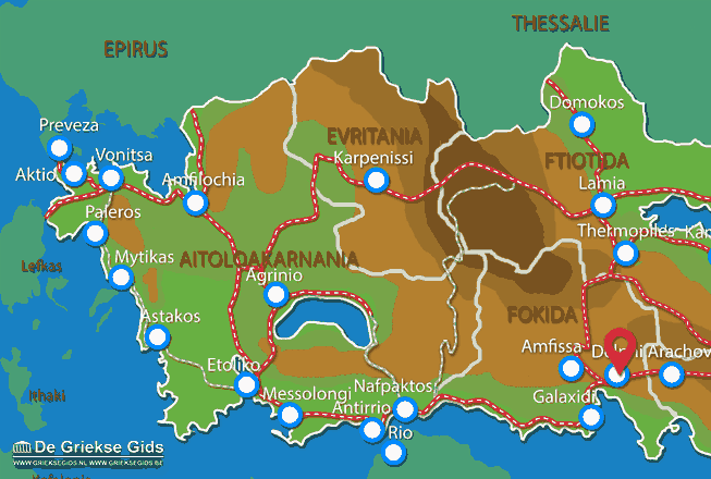Map of Delphi
