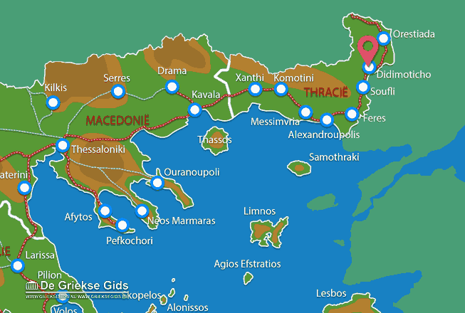 Map of Didimoticho
