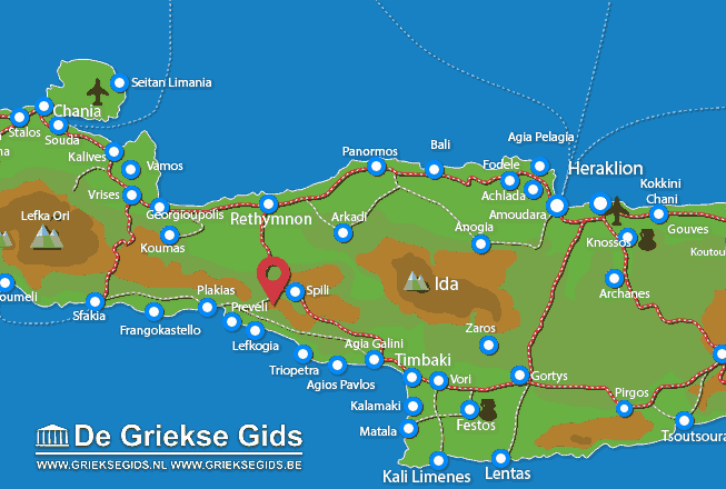 Map of Drimiskos
